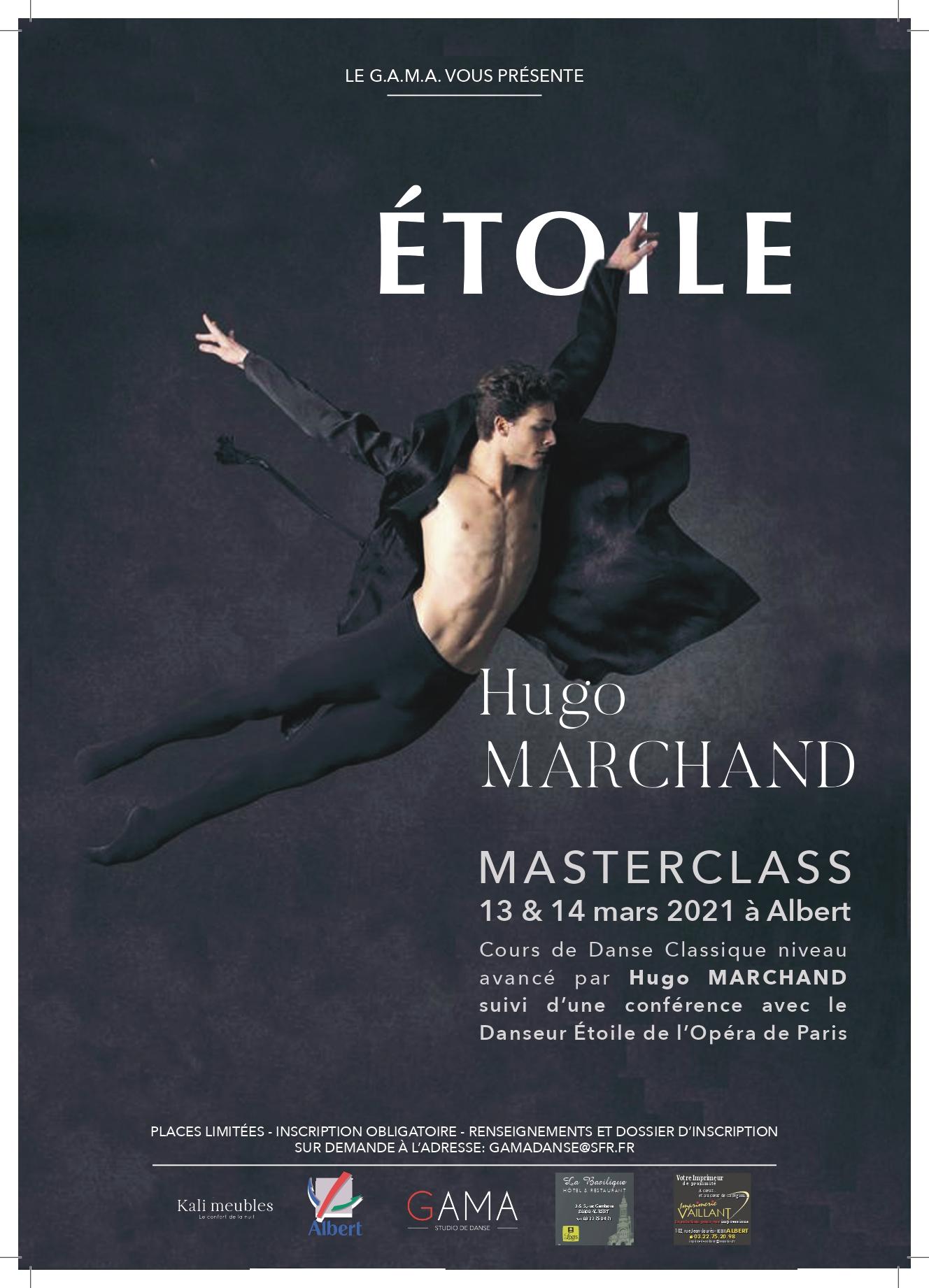 Masterclass par Hugo Marchand les 13 & 14 Mars 2021